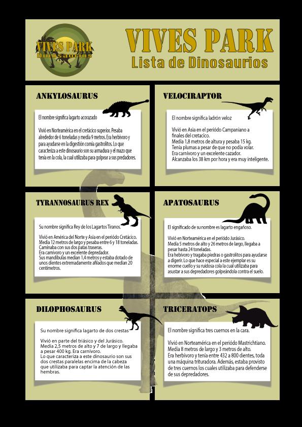 Dinosaurios de Vives Park